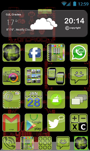 GLE theme Green Android