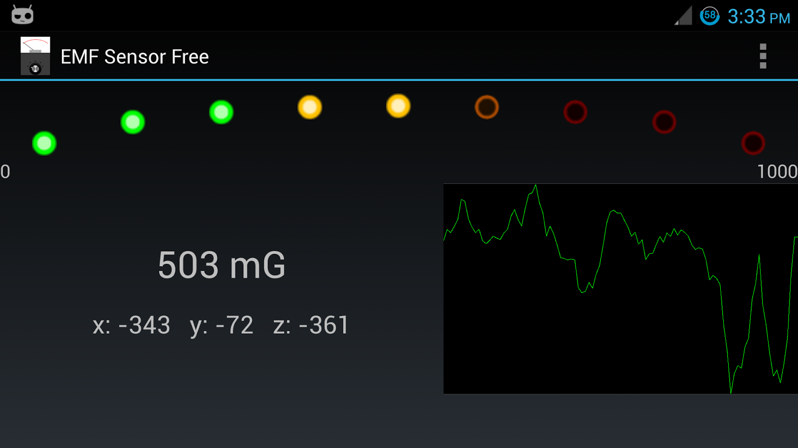 EMF Sensor Free - screenshot