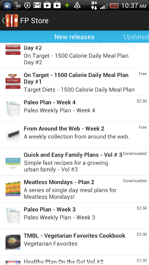 Food Planner - screenshot