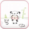 Panda Bebe go launcher theme icon