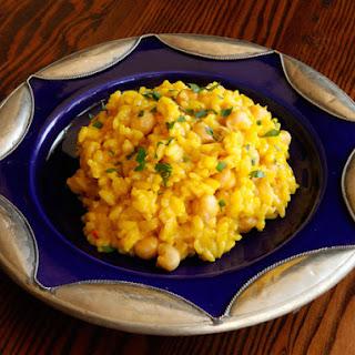 Saffron Chickpea Risotto Recipe