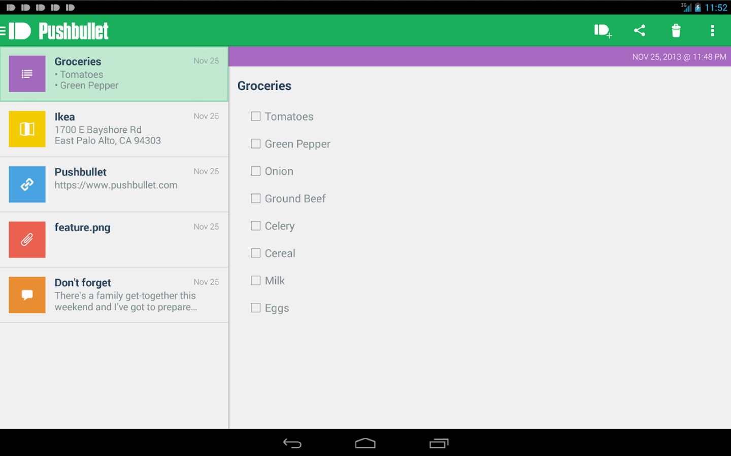 Pushbullet - screenshot