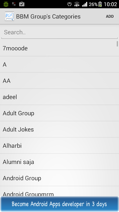 Group Finder For BBM Users- screenshot