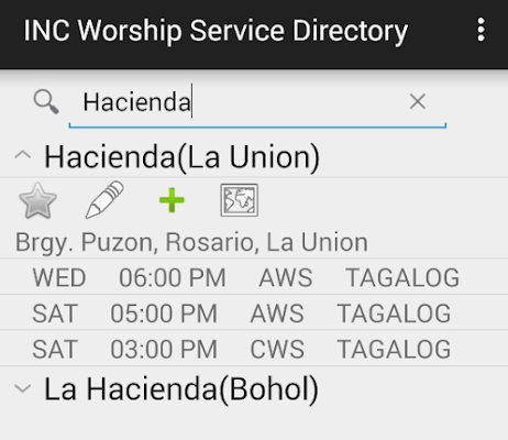 INC Worship Service Directory - screenshot