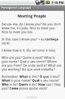 Screenshot of Portuguese Grammar Study Guide