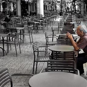lonely old man by Hatdy Tridjaja - People Street & Candids ( street, people )