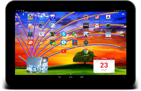 Touch the Rainbow Wallpaper - Live Wallpaper that draws ...