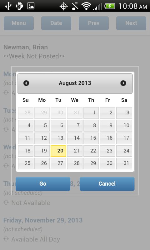 ScheduleBase- screenshot