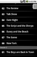 Screenshot of TV Shows Light