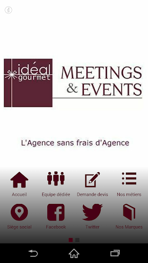 Ideal Gourmet Meetings Events