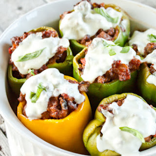 Pizza Stuffed Peppers.