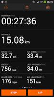 Screenshot of Sports Tracker Running Cycling