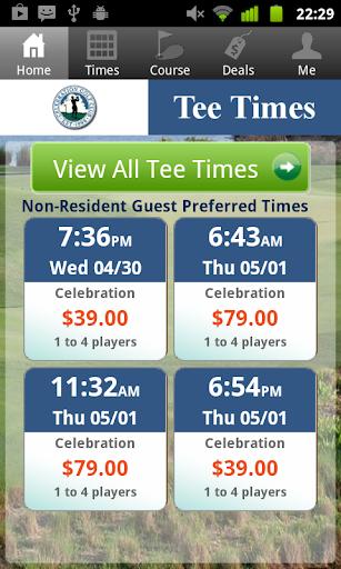 Celebration Golf Tee Times