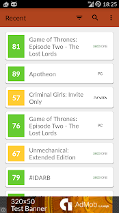 GamePlan: Games on Metacritic - screenshot thumbnail