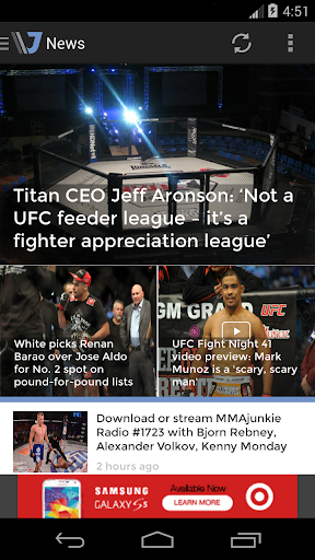 Get the free MMAjunkie.com Mobile app for iPhone, iPad, Android ...