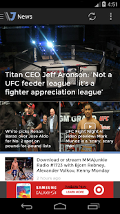 MMAjunkie - screenshot thumbnail