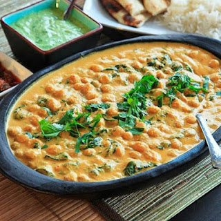 Chickpea, Coconut, and Cashew Curry.