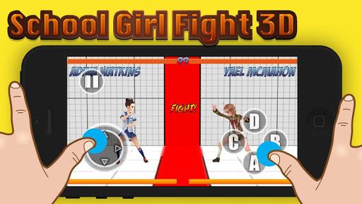 School Girl Fighting 3D