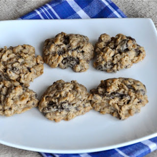 Oatmeal Peanut Butter Dark Chocolate Chunk Cookies