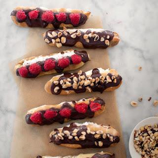 Hazelnut & Raspberry Éclairs
