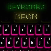 Keyboard Background Neon