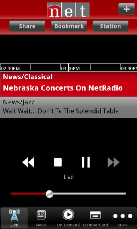 NET Radio Nebraska App - screenshot