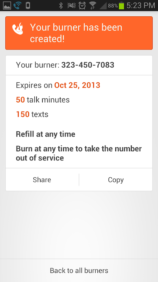 Burner - Free New Number - screenshot