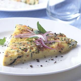 Smoked-Salmon and Cream Cheese Frittata.