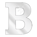 Diamond letter B sticker logo