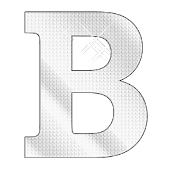 Diamond letter B sticker