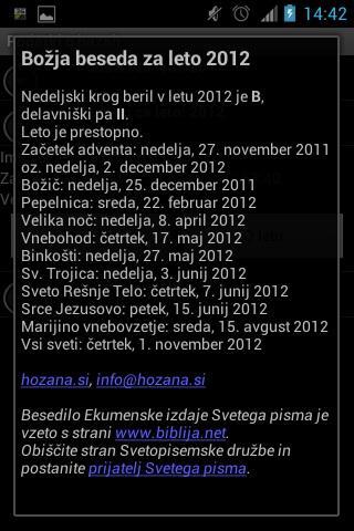 Lekcionar- screenshot