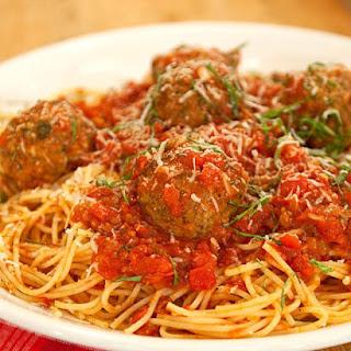 Grandma Maroni's Meatballs and Sauce.