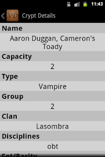 VampiDroid - VTES Cards- screenshot thumbnail