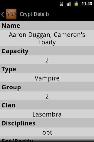 VampiDroid - VTES Cards- screenshot