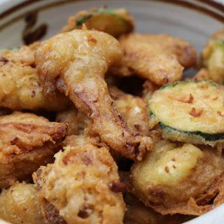 Cauliflower and Zucchini Pakoras.