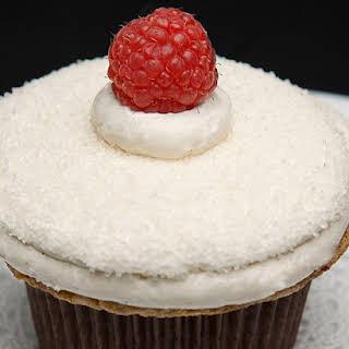 Meyer Lemon Raspberry Cupcakes.