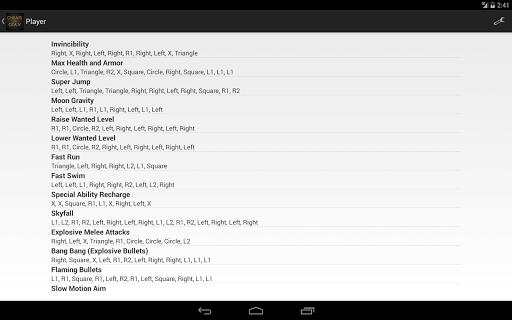 Download Cheats for GTA 5 (PS4 / Xbox) Google Play softwares