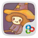 Little Lovely Witch GO Theme icon