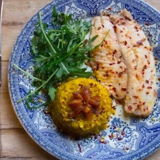 Chilli-crusted Tilapia with Cauliflower Rice