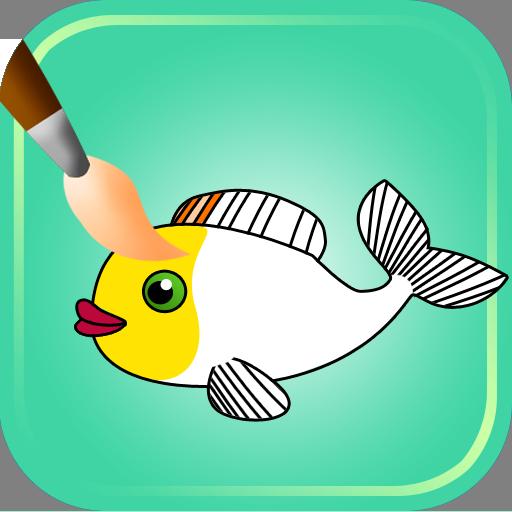 着色ゲーム 魚 休閒 App LOGO-硬是要APP