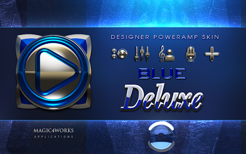 poweramp skin blue deluxe