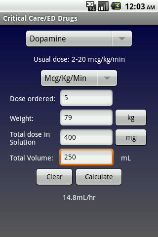 NurseCalcs- screenshot