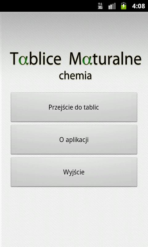 Tablice Maturalne - Chemia - screenshot