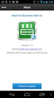 Screenshot of Boat URL Shortener Add-on