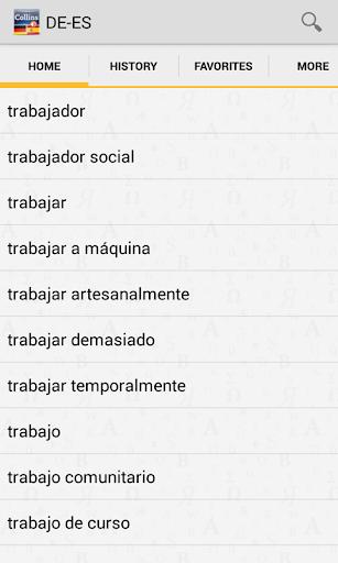 GermanSpanish Dictionary T