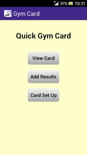 Quick Gym Card