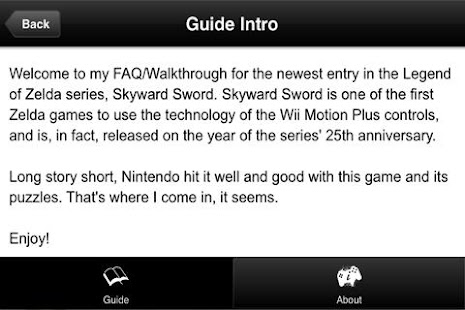 Guide - Zelda Skyward Sword- screenshot thumbnail