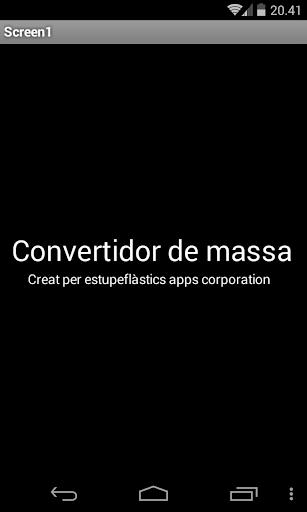 Conversor de Massa