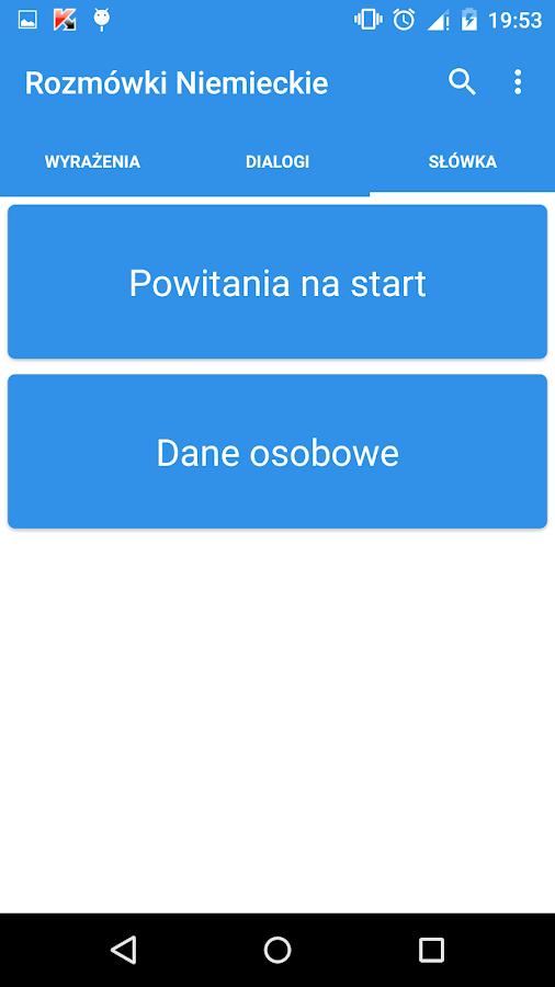 Rozmówki Polsko-Niemieckie - screenshot