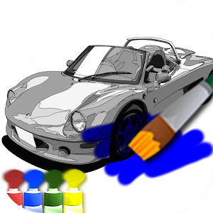 Coloring adult (car) for PC and MAC